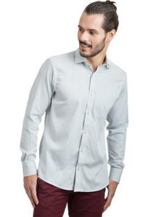 Camisa Di Sotti Xadrez Cinza Claro - Masculino