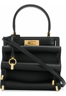 Tory Burch Bolsa Tote Lee Radziwill Petite Accordion - Preto