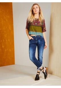 Calça Jeans Reta Cintura Média Comfort Jeans