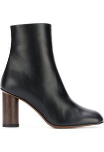 Neous Ankle Boot De Couro - Preto