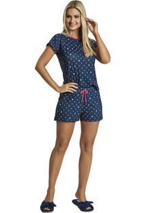 Pijama Recco Curto Malha Touch Rosa - Tricae