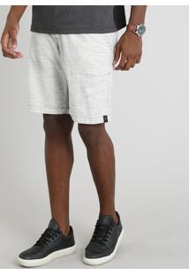Bermuda Masculina Com Bolsos Bege Claro
