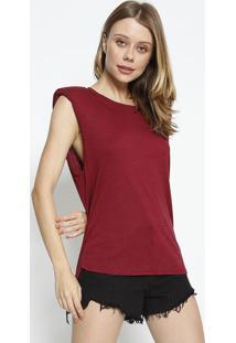Blusa Com L㣠& Ombreiras - Bord㴠- Colccicolcci