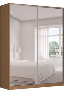 Guarda-Roupa Solteiro Com Espelho Tunas Iv 2 Pt 3 Gv Marrom
