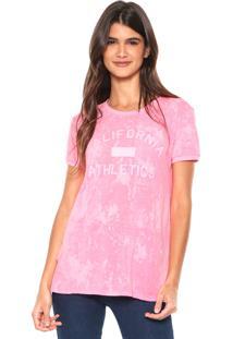 Camiseta Calvin Klein Estampada Rosa