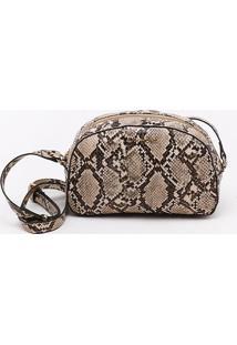 Bolsa Shoulder Bag Snake Amêndoa - M
