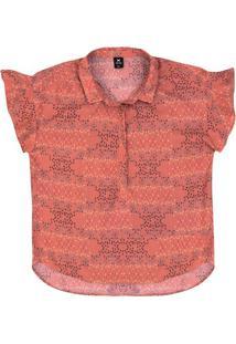 Camisa Feminina Em Tecido De Viscose Estampada