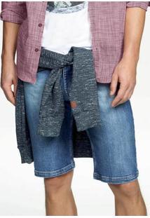 Bermuda Masculina Hering Em Jeans Tradicional