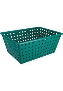 Cesta Organizadora One Maxi 39X30Cm Verde Esmeralda
