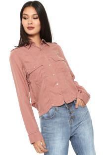 Camisa Sarja Uber Jeans Mullet Rosa