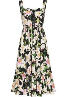 Dolce & Gabbana Vestido Lily Midi Estampado