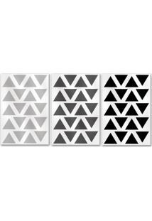 Adesivo De Parede Meu Primeiro Quartinho Triângulo Multicolorido