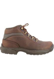 Coturno Country Hb - Agabê Boots - Solado De Borracha Masculino - Masculino-Marrom Escuro