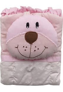 Capa De Carrinho Com Travesseiro Bruna Baby Reino Rosa