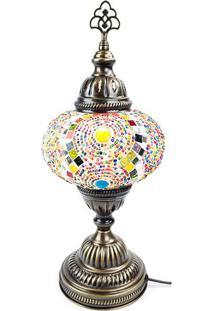 Abajur Turco Original Em Mosaico 37Cm