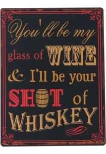Placa Decorativa Whiskey
