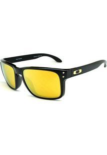 Óculos De Sol Holbrook Oakley - Masculino-Preto