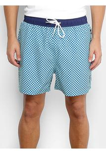 Bermuda U.S.Polo Assn Geométrico Logo Masculina - Masculino