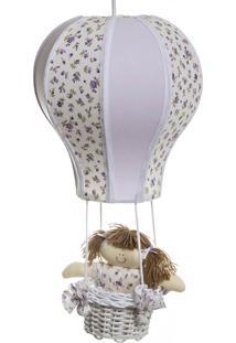Lustre Balão Cintura Quarto Bebê Infantil Menina Potinho De Mel Lilás - Kanui
