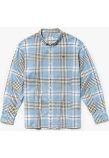 Camisa Lacoste Live Boxy Fit Masculina - Masculino-Azul Claro+Branco