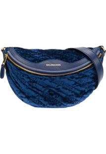 Balenciaga Bolsa Tiracolo Souvenir Xxs - Azul