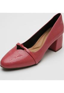 Scarpin Dafiti Shoes Textura Rosa - Rosa - Feminino - Sintã©Tico - Dafiti