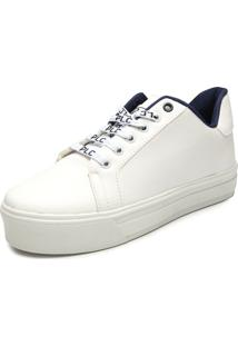 Tênis Flatform Polo London Club Liso Branco