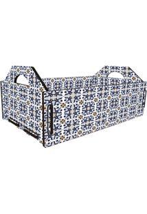 Caixa Casa Da Mãe Joana Fruteira Azulejo Hidráulico Azul