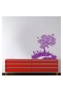 Adesivo De Parede Árvore Na Estrada - G 100X116Cm