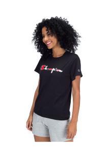 Camiseta Champion Script 3 Cores Y07995 - Feminina - Preto