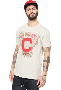 Camiseta New Era Cleveland Indians Off-White