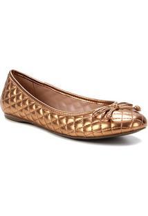 Sapatilha Shoestock Clássica Matelassê Feminina - Feminino-Bronze