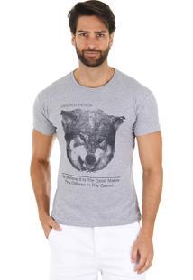 Camiseta Lobo Masculina Maidale - Cinza