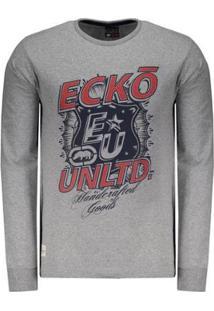 Camiseta Ecko Estampada Manga Longa Masculina - Masculino
