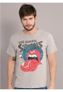 Camiseta Bandup The Rolling Stones Nailed Tongue - Masculino-Mescla