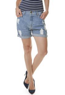 7403def21 ... Bermuda Boyfriend Rasgos - Unissex-Jeans