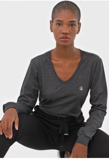 Camiseta Volcom Silk Stone Grafite - Kanui