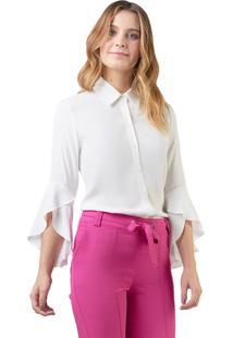 Camisa Mx Fashion Viscose Farah Off White