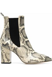 Paris Texas Ankle Boot De Couro - Neutro