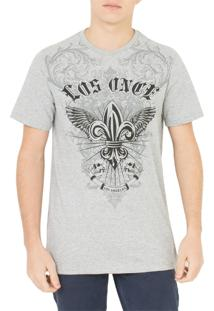 Camiseta Los Once Herald Wings Cinza