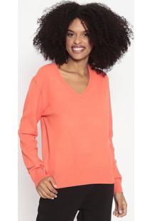 Suéter Em Tricô - Laranja Neon - Wool Linewool Line