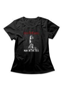 Camiseta Feminina Alice In Chains Man In The Box Preto