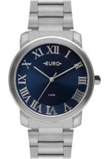 Relógio Euro Roman Basic Feminino - Feminino-Prata