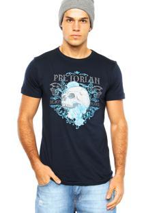 Camiseta Pretorian Beat Hard Azul Marinho