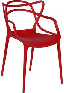 Cadeira De Jantar Solna- Vermelha- 83,5X54X43Cm-Or Design