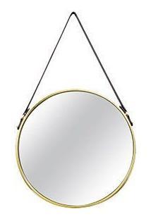 Espelho Em Metal, Moas, Dourado