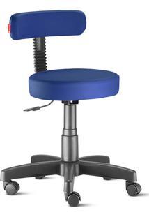 Cadeira Mocho Slim Azul Noturno Giratória