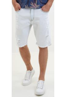 Bermuda John John Classica Albania Jeans Branco Masculina (Jeans Claro, 42)