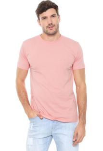Camiseta Richards Aquarela Palmeira Rosa