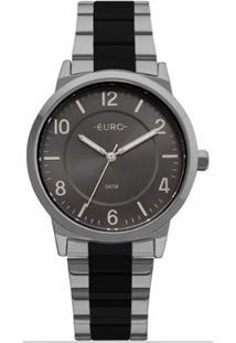81cacc54b96 Zattini. Relógio Manual Feminino Unissex Chumbo Preto Inox Vidro ...